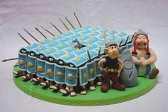 Asterix and Obelix - Cake by torte trifft stil Beautiful Cakes, Amazing Cakes, Asterix E Obelix, 18th Cake, Birthday Cake For Husband, Crazy Cakes, Just Cakes, Novelty Cakes, Cakes For Boys