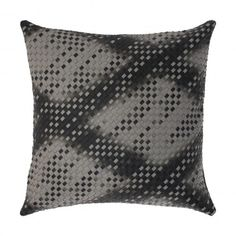 "Faux Leather Basket Weave Luxury Grey Decorative Cushion / Throw Pillow KURRI GALAXY 18""X18""  #decorativepillow #throwpillow #cushion #cushioncover  #recycled #livingroom #bedroom #homedecor #grey #gray #black #fauxleather #mancave #rustic #masculine #pillow #basketweave #woven #luxury"