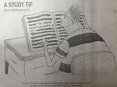 Study tip ... Unable to find a highlighter …