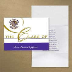 Share your school colors on this traditional graduation party announcement.