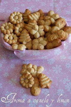 Aroma a canela y limon: GALLETAS DE MANTEQUILLA CON PISTOLA