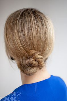 The twist creates this gorgeous texture in your bun and makes it easy to form a neat bun. Before forming the bun, you can gently pull at the sides of your braid to make your hair look thicker.  To make the rope braid, start by splitting your ponytail into two equal sections. Twist each section in the same direction. Then wrap the two sections together in the opposite direction to form the braid. For example, twist both sections to the right, but twist the right piece over the left.