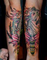 deer tattoo by ~boenone on deviantART
