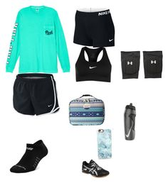 """Untitled #55"" by gwboobear on Polyvore featuring Victoria's Secret, NIKE, Under Armour, Asics, New Balance, Casetify and Roxy"