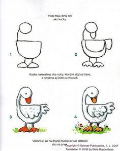 Techniques faciles pour apprendre dessiner pour ma - Dessiner une oie ...
