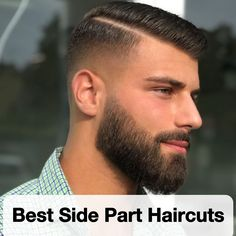 The men's side part haircut is one of the most elegant and classic hairstyles in history. Unlike other, more striking and striking cuts, the side section was never surpassed. Side Part Haircut, Side Part Hairstyles, Cool Hairstyles For Men, Straight Hairstyles, Hairstyles For Balding Men, Trendy Mens Haircuts, Girl Haircuts, Hairstyles Haircuts, Medium Beard Styles