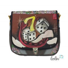 Tasche Umhängetasche mit Malerei Lucky Seven