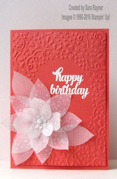 Botanical vellum card, using Sale-a-bration supplies from Stampin' Up! www.craftingandstamping.com #stampinup #SAB