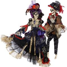 """Vogue Skeleton Couple - 30"""" from TheHolidayBarn.com"""