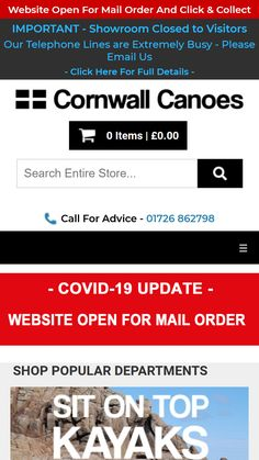 Very busy week, launching updated system for #TheCanoeShopGroup that includes an updated #ecommerce system for shop websites across the #UK that includes #BournemouthCanoes #BrightonCanoes #CornwallCanoes #Kayaks&Paddles #ManchesterCanoes #Norfolk Canoes & #SouthamptonCanoes Canoes, Kayaks, Telephone Line, Software Projects, Business Requirements, Paddles, Shopping Websites, Norfolk, Web Development