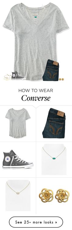"""cory's eyes are like the jungle he smiles it's like the radio"" by secfashion13 on Polyvore featuring Aéropostale, Hollister Co., Kendra Scott, Converse, Monica Vinader, women's clothing, women, female, woman and misses"