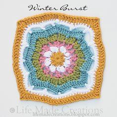 Winter Burst Square ~ free crochet patterns ~༺✿Teresa Restegui http://www.pinterest.com/teretegui/✿༻