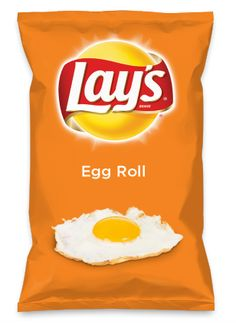 Wouldn't Egg Roll be yummy as a chip? Lay's Do Us A Flavor is back, and the search is on for the yummiest flavor idea. Create a flavor, choose a chip and you could win $1 million! https://www.dousaflavor.com See Rules.