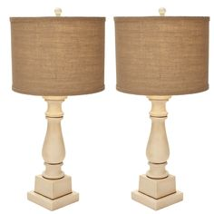 """Urban Designs Adriana Candlestick 28"""" Table Lamps (Set of 2)"""