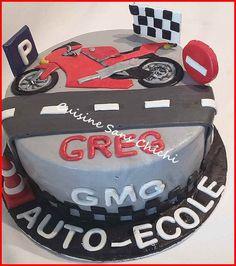 Gâteau à thème : la moto
