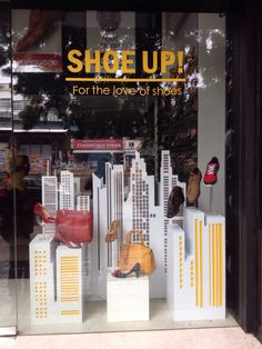 Shoe up!!! Window display done at Koblerr