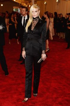 Jaime King in custom Topshop  at the MET Gala 2013