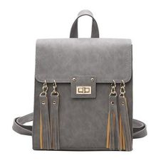 Casual Backpack Tassel Sammy 3 colors. Leather School BackpackBlack ... 085f53735f