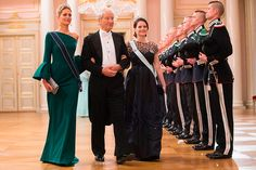 Princess Tatiana of Greece and Princess Sofia of Sweden are escorted at the gala dinner in Oslo, May 9, 2017