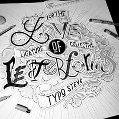 Finally the winner of our 50k #fortheloveofletters competition @typo_steve !!  This piece of type show great skill and a clear love for letterforms. Well done!