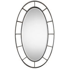 Uttermost Aged Bronze Gilliam Oval Mirror
