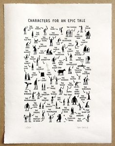 liquidnight:    Tom Gauld - Characters for an Epic Tale   [via Diskursdisko]