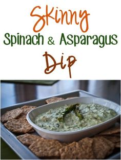 Skinny Spinach and Asparagus Dip Recipe! {great as a party and holiday appetizer!}