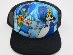 Adventure Time Ice King Bioworld Officially Licensed Black Snapback Hat  #Bioworld #BaseballCap  #AdventureTime