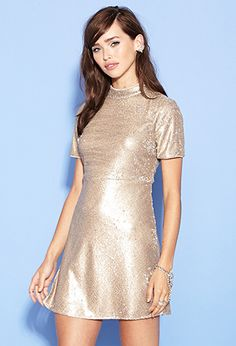 Sequin Fit & Flare Dress | FOREVER21 - 2000117163