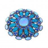 Konplott Ring Ethnic Mosaic blau / grün 38 mm