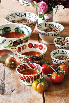 Emma Bridgewater Vegetable Garden Tomatoes Medium Old Bowl - Modern