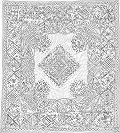 Quilting Drawing, made by Linda Baumgarten, IQSCM 2006.007.0001
