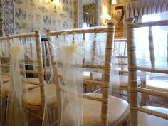 Ivory Organza Sashes, simple but elegant.