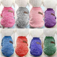 Clásico Caliente Ropa Para Perros Cachorro Mascota Gato Chaqueta de Abrigo de Invierno moda Suave Suéter Ropa Para Chihuahua Yorkie 9 Colores XS-2XL 25