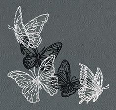 Embroidery Patterns Transfer unlike Embroidery Designs Lehenga about Embroidery Machine per Embroidery Stitches Encyclopedia Machine Embroidery Patterns, Embroidery Stitches, Hand Embroidery, Embroidery Tattoo, Embroidery Tools, Butterfly Embroidery, Urban Threads, Butterfly Design, Small Tattoos
