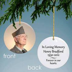 Memorial Personalized Photo Ornament