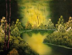 GREENSCAPE ~ Anonymous Bad Art, Anonymous, Painting, Painting Art, Paintings, Painted Canvas, Drawings