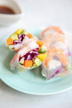 Mango Shrimp Summer Roll | Jchong Studio