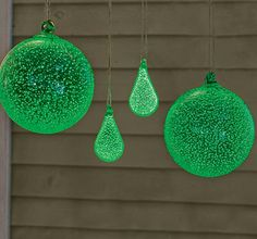 Make glow in the dark glass ornaments, DIY Christmas - or hang outside in your trees year round