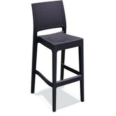 Jamaica Wickerlook Resin Bar Chair Brown