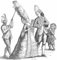 Rococo hair, 1770's