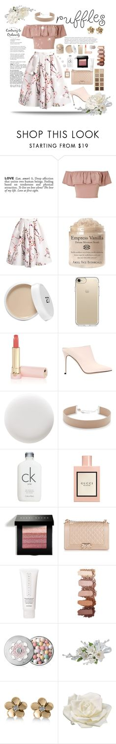 """Cutie Skirt"" by essentiallyessence on Polyvore featuring ADZif, Miss Selfridge, Speck, Tatcha, Sergio Rossi, Deborah Lippmann, Jennifer Zeuner, Calvin Klein, Gucci and Bobbi Brown Cosmetics"