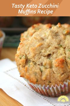 These keto zucchini muffins make a perfect on-the-go snack and won't throw off your ketogenic diet needs. Read this article to learn how to prepare it. Healthy Cupcake Recipes, Zucchini Muffin Recipes, Keto Muffin Recipe, Veggie Muffins, Zuchinni Recipes, Veggie Snacks, Healthy Muffins, Low Carb Desserts, Keto Snacks