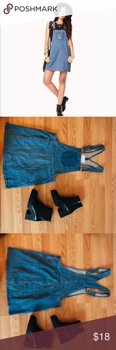 932d575144d F21 life in progress rustic overall dress