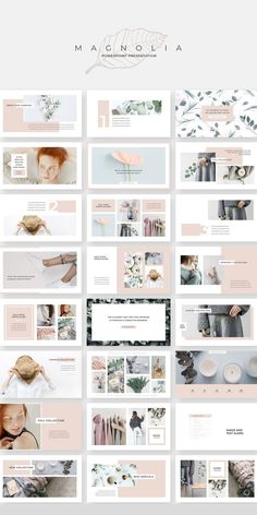 powerpoint This product is part of the Magnolia Complete Pack: An elegant, fashionable & versatile presentation template. Magnolia design line has a soft, minimalist aesthetic that's both Slides Powerpoint, Powerpoint Slide Designs, Powerpoint Design Templates, Creative Powerpoint, Powerpoint Free, Professional Powerpoint Templates, Portfolio Design Layouts, Book Portfolio, Design Portfolios