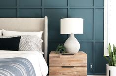 Paint Colors in My House - Angela Rose Home Bedroom Paint Colors, Paint Colors For Home, House Colors, Paint Colours, Wall Colors, Benjamin Moore Bedroom, Benjamin Moore Colors, Green Accent Walls, Blue Walls