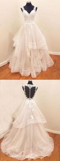 white tulle long prom/wedding dress #prom #promdresses #wedding #promdress #eveningdress