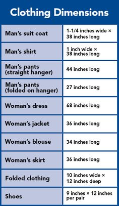 Image result for standard measurements for clothing shelves