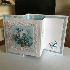 Greetings card for stash Tri Fold Cards, Fancy Fold Cards, Folded Cards, Z Cards, Pop Up Cards, Easel Cards, Cardmaking And Papercraft, Shaped Cards, Cricut Cards