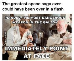 "Obi-Wan's face though xD He's like ""omgosh, can you not T-T"" ~Star Wars"